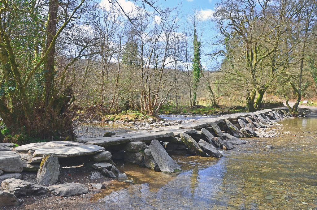 Tarr Steps, Somerset, Neolithic clapper bridge, Exmoor.