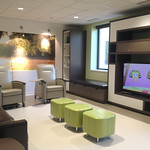 TV/Family room in Jane Pitt Pediatric Cancer Center