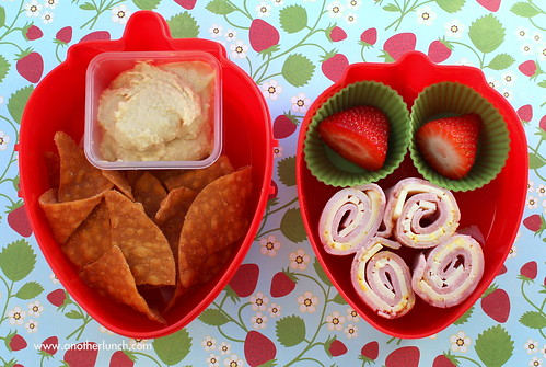 strawberry bento box - big snack: mini lunch
