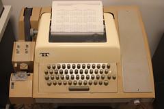 ASR33 teletype printing a calendar