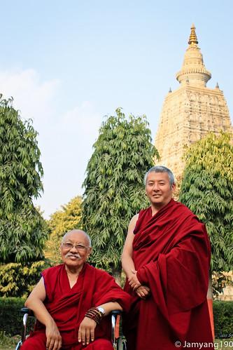 Luding Khen Rinpoche at Bodhgaya 祿頂堪仁波切在菩提迦耶