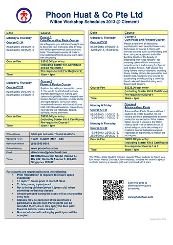 Wilton Schedule-May-August 2013