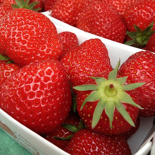 Best strawberries of my life. At the market in Devonne Les Baines, France.