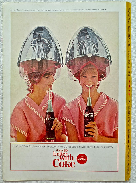 1965 - 1960s Vintage Coca Cola Advertisement From National Geographic Back Page 1