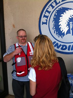 Disaster relief worker aids neighbors in need