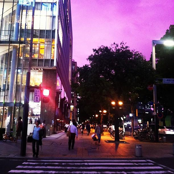 Pink sky :) at Sakae, Nagoya