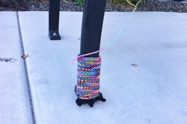 Monster Feet Yarn Bomb