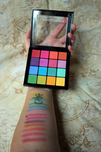 NYX, ultimate shadow palette in Brights