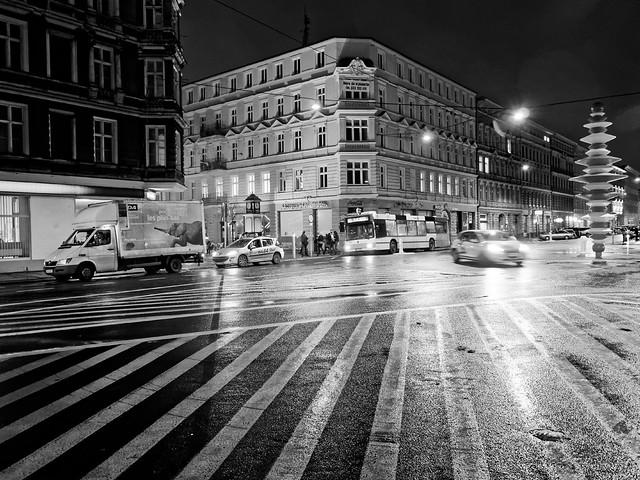 Stettin night street.