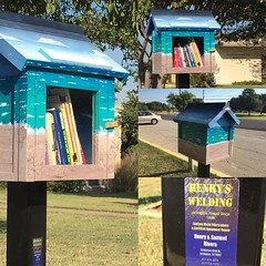 @littlefreelibrary installed and stocked in front of the Dalworthington Gardens City Hall @arlingtonnights @aim.here @astephensart @arlingtontexasproud @arlingtontoday @arlingtontexastoday
