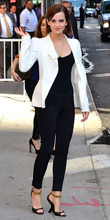 Emma Watson Monochrome Trend Celebrity Style Women's Fashion