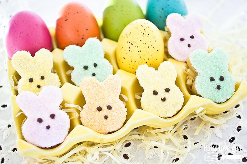peeps bunny cookies