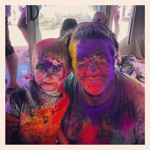 Archie and Gabe at Color Festival.