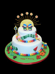 Hungry Caterpillar 2 tier cake