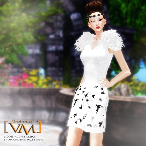 [VM] VERO MODERO _ Derin V Neck Dress Birds