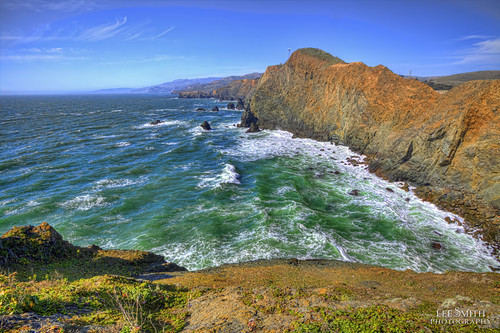 The Rugged Cliffs off Marin Coastal by smittysholdings