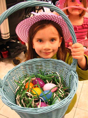 Easter egg hunt at Great-Ma's house
