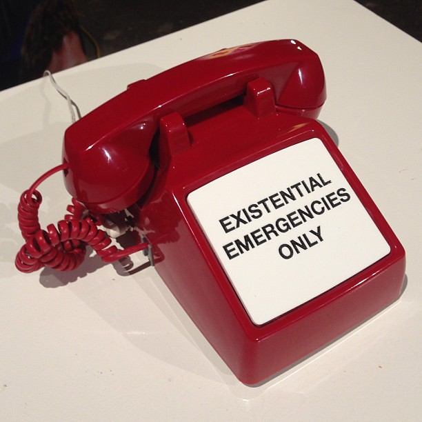 Existential Emergency Phone at F.A.T. Gold