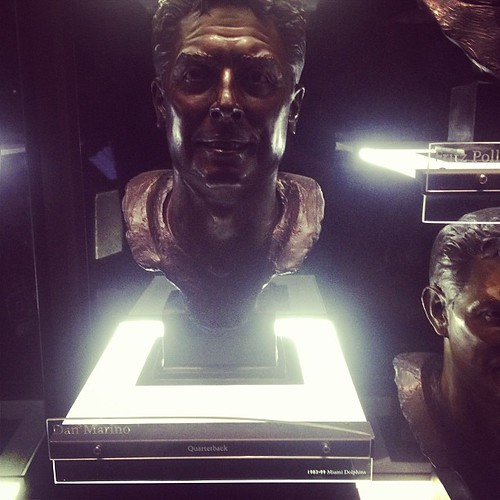 Drove all this way to see Dan Marino to find out its just a sculpture...not the real thing ;( lol