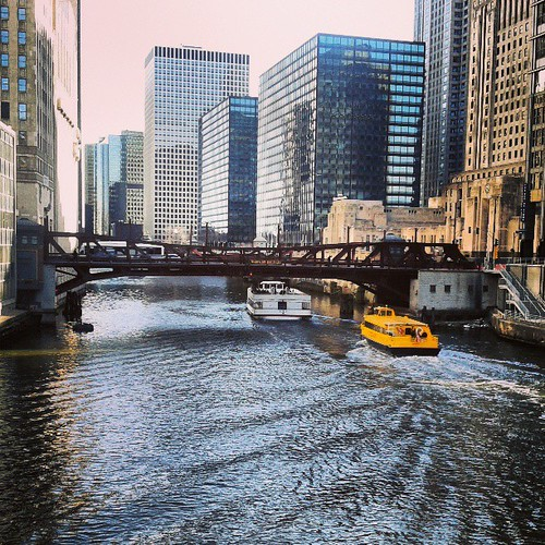 Sign of spring - boats on the Chicago river #RunnerPhotoChallenge