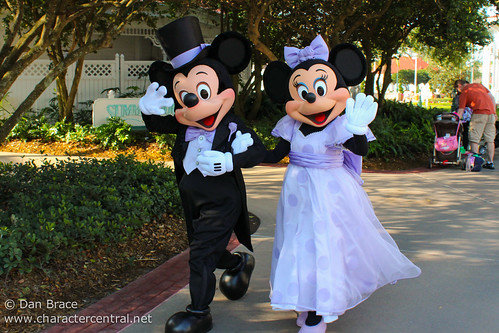 Mickey and Minnie Mouse dress up for Easter