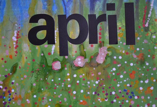 Art Journal Calendar_April closeup 3