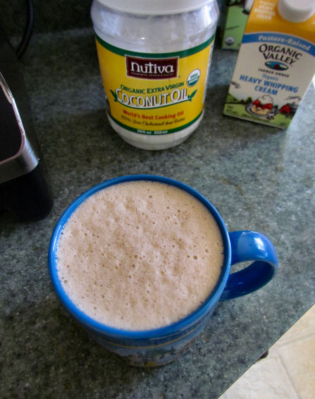 Frothy Coconut Oil Coffee