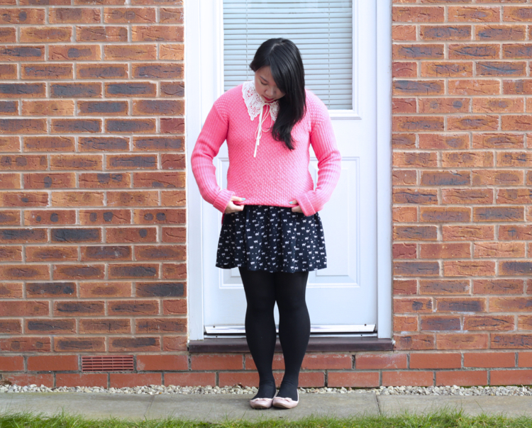 pink jumper outfit 1