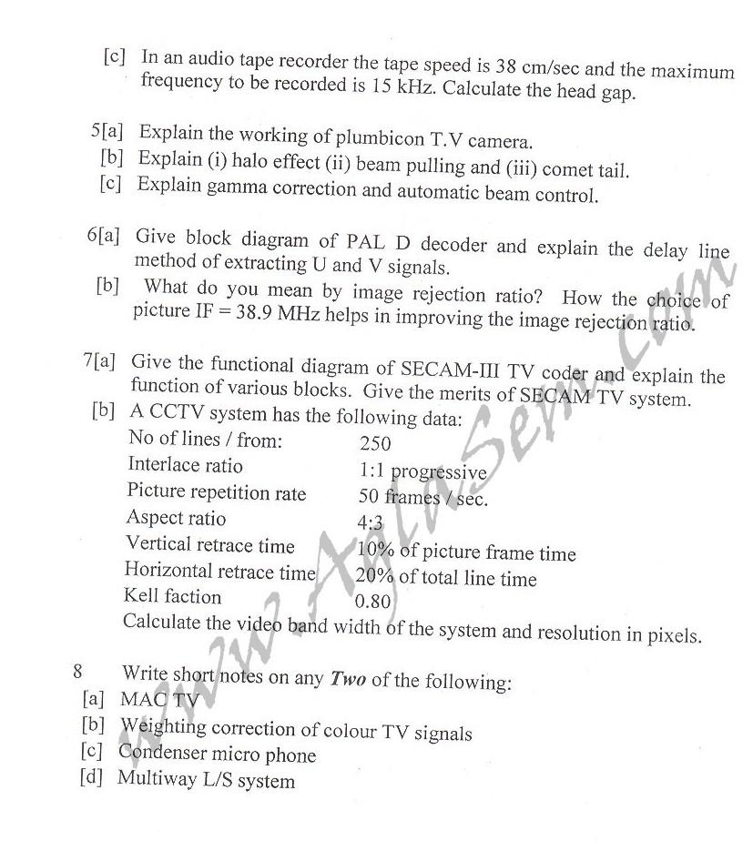 DTU Question Papers 2010 – 8 Semester - End Sem - EC-IC-411