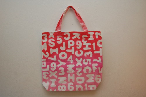 Alphabet Ombre Tote Bag Tutorial