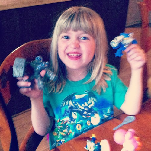 "If you're looking for the happiest nerd child on the planet, that would be mine, when she found out Skylanders were the toy in her Happy Meal. (""I better hold onto Lucy's for her."" Uh-huh.)"