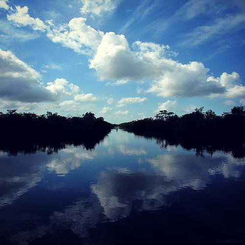 clouds reflections river square reflex florida blues naples divided swfl royalpalmhammock collierseminolestatepark
