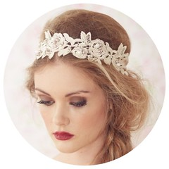 Blush Lace Headband
