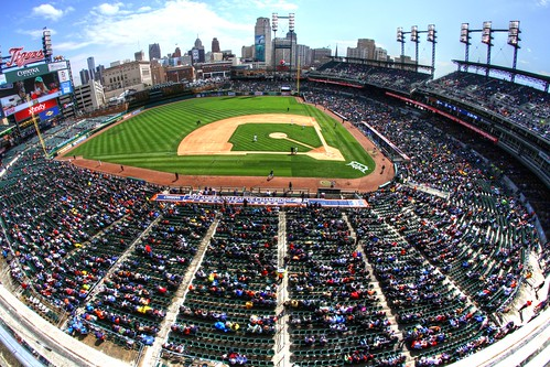The crowd - Comerica Park