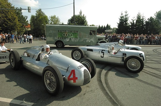Auto Union Type D, Type C, and Type A