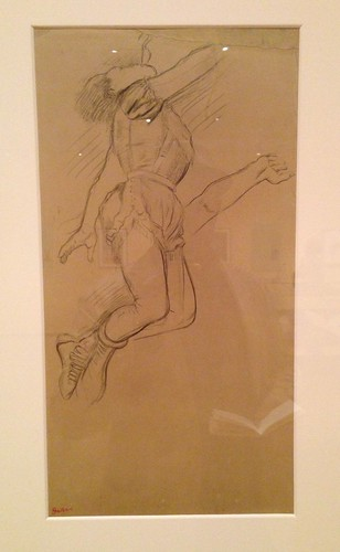 Degas' preparatory sketch