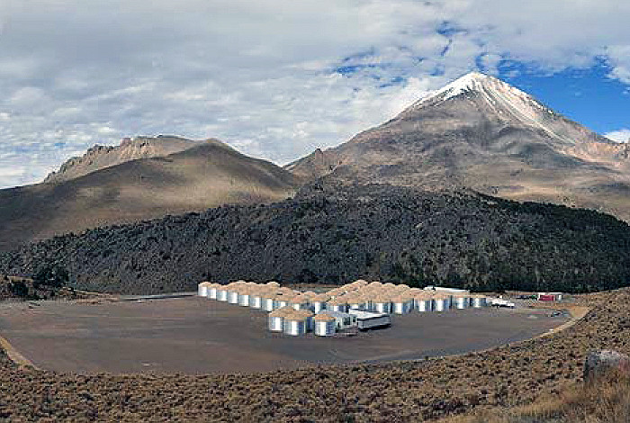 The High-Altitude Water Cherenkov (HAWC) Observatory is under construction.