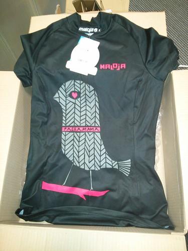maillot de mujer de bicicleta pajaritom maloja