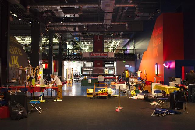 Maker Faire UK 2013 - Setting up