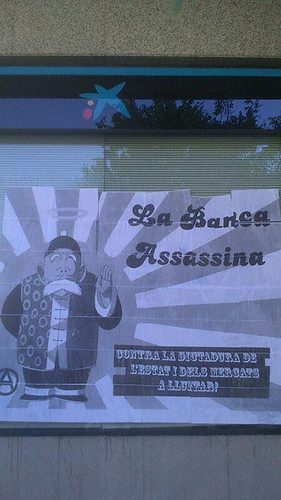 #escrache a #lacaixa a #Berga #1maig2013 #1demayo #1maigCGT