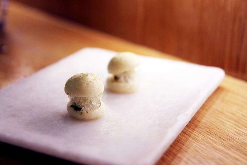 Frozen Mojito Macaron Amuse Bouche