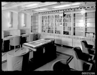 TSS AWATEA ship's library