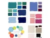 When in buying mode, choosing color palette variations from hot-to-trot shades is easier  -- hence my look at the Pantone Spring 2013 forecast and a decision to focus on Emerald, African Violet, and Linen (aka deep green, medium purple, and taupe) + navy