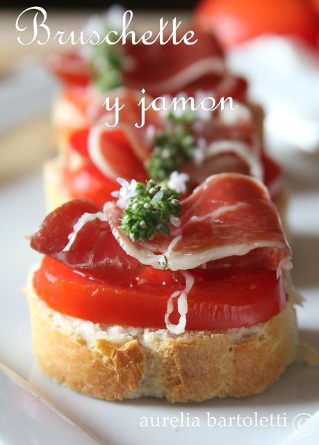 crostini di jamon joselito e pomodoro scritta