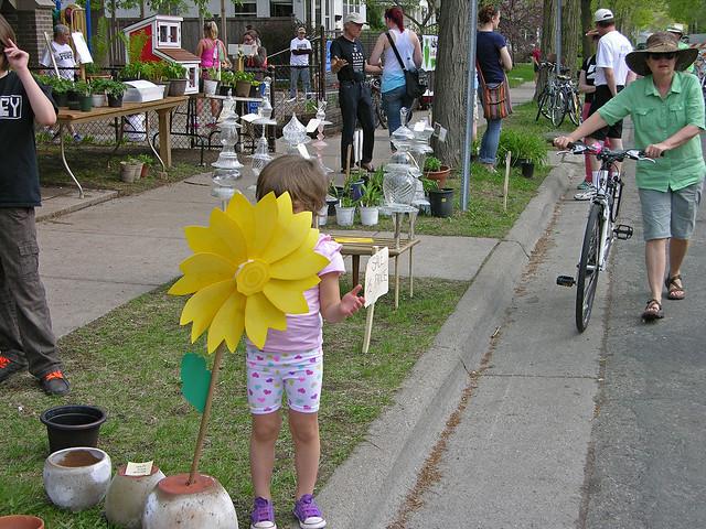 Judson Street Fest 2013 flower girl peek