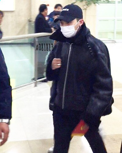 BIGBANG (wout Seungri) arrival Seoul Gimpo from Beijing 2016-01-02 (1)