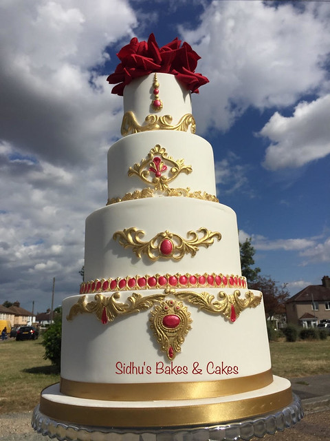 Gold Jewel Cake by Sidhu's Bakes & Cakes