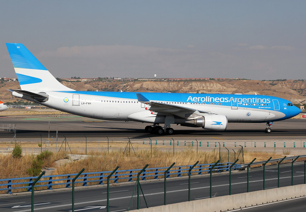 On the way to the terminal after landing on RWY18L inbound from Buenos Aires EZE. Delivered 02/2015