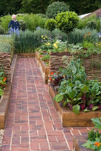 brick path garden