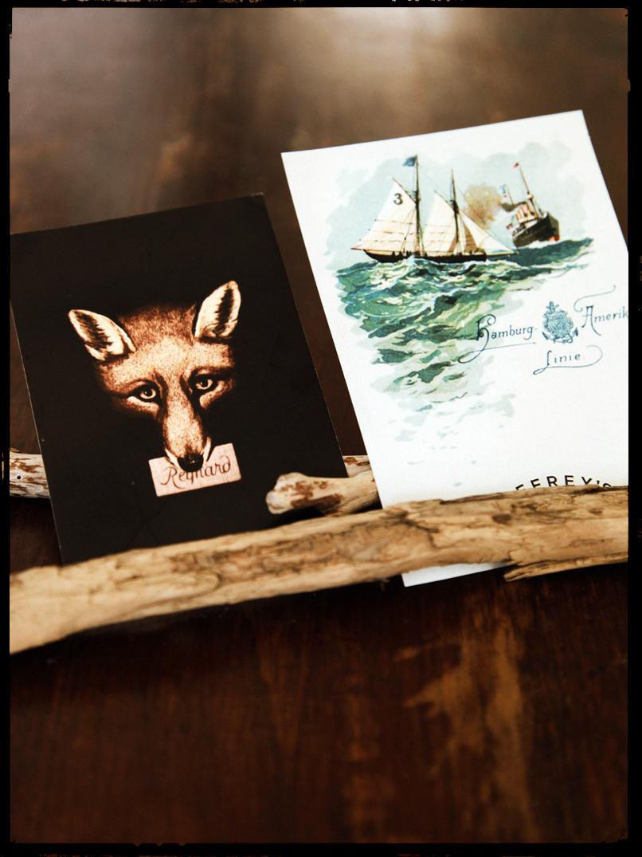 2 postcards
